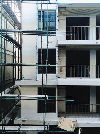 Apartment Architecture Balcony Building Building Exterior Built Structure City Glass - Material Modern Railing Reflection Residential Structure Staircase Steps Underconstruction  Window