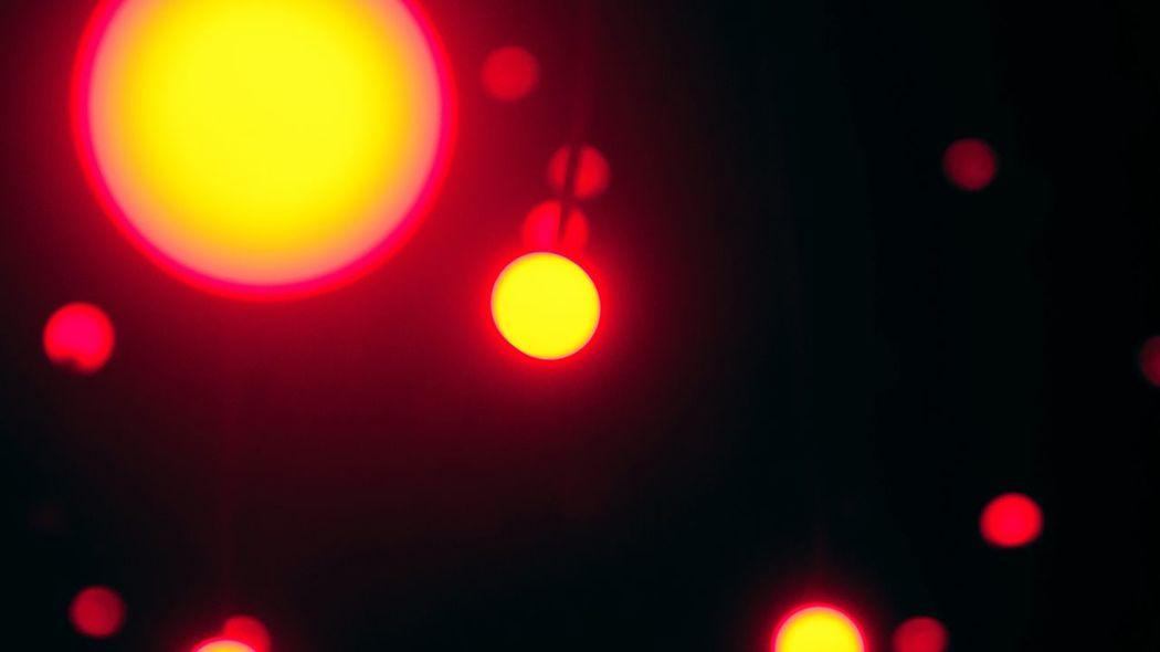 Distorsión Bokeh Light Red And Yellow Museo Rufino Tamayo Yayoi Kusama Mexico City