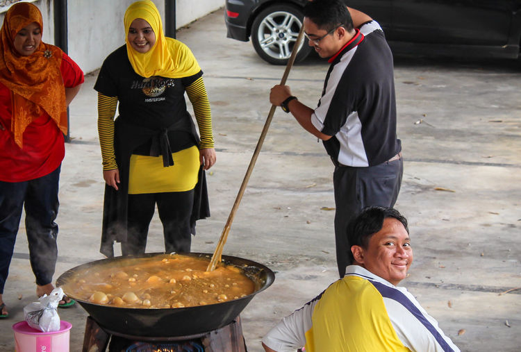 Happy People Making Dodol Asian Culture Happy Happy People Malaysian Food Smile ✌ Adult Asian Food Day Food Food And Drink Freshness Holding Malaysia Men Mid Adult Men People Preparation  Real People Real People, Real Lives Smile Smiles Standing Teamwork Young Adult Summer Exploratorium
