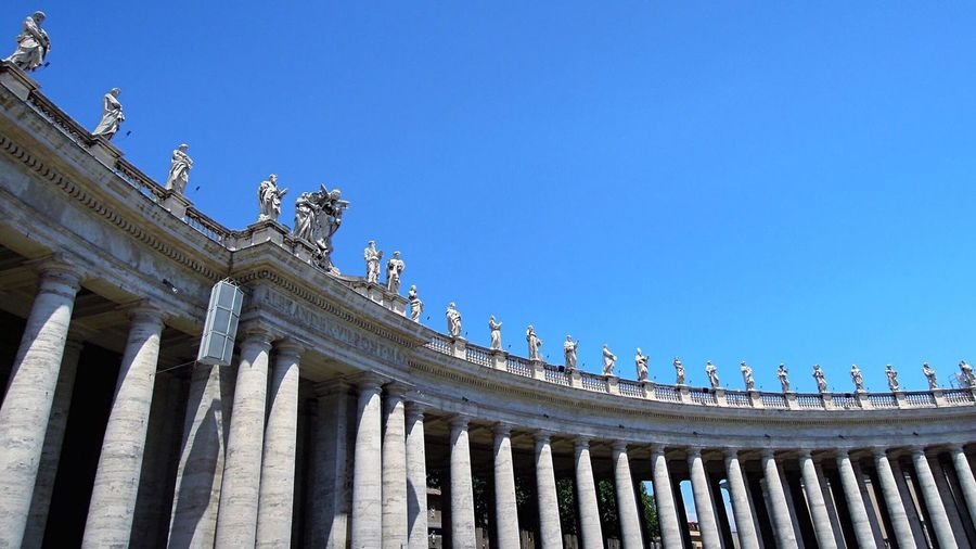 Low angle view of saint peter's square