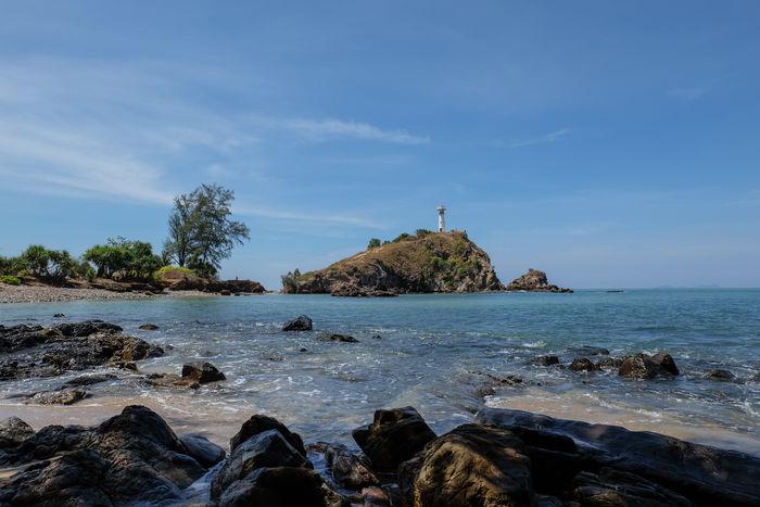 nice vacation on summer Holiday Ses Andaman Blue Sky Blue Koh Lanta Lanta Island Landscape Water Sea Beach Wave Sand Rock - Object Summer Seascape Lighthouse