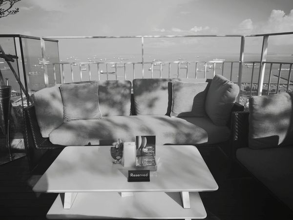 Black & White Photography Couch Cozy Place View From The Top Outdoors❤ Sunset Lounge Lounge Bar Relaxation...