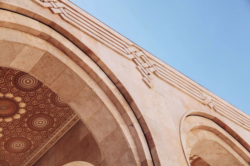 Architectural Detail Of Mosque Hassan Ii