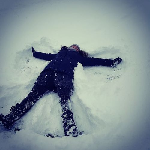 Snow Angel Snow Snow ❄ Snowscene Winter Snowangel Snowfun