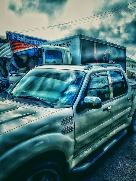 Vehicle Photography Hennessy Delivery Truck Delivery Service Walking Around Taking Pictures Welcome To My World Up Close Street Photography Waiting ... Mode Of Transport Need For Speed Man Made Object Man Made Structure Edit Junkie Clouds And Sky Happy Hours