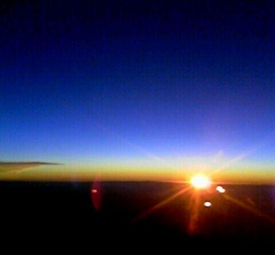 A deep blue sunset aboard Southwest Airlines toward Phoenix, AZ in 2009.