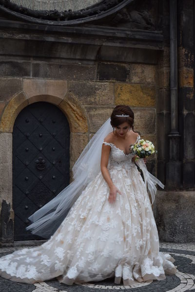 Architecture Beautiful Woman Bouquet Bride Built Structure Ceremony Day Full Length Groom Life Events One Person Outdoor Photography Outdoors People Real People Standing Wedding Wedding Dress Women Young Adult Young Women