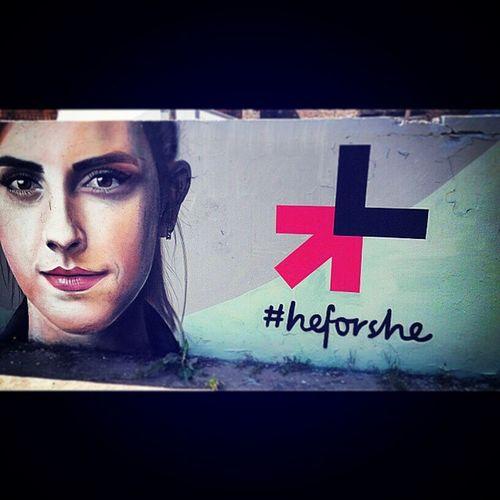 HeforShe Heforshe Emmawatson Always Against Violence Streetart Budapest Obuda