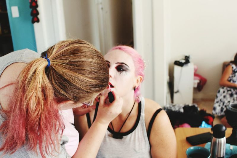 EyeEm Selects Two People Lifestyles Friendship The Process Photographer Preperation Photojournalism Storytelling Sfxmakeup Real People Gore Halloween Behind The Scenes // Todays Awesome Shoot :) Behind The Scenes Of A Photoshoot Makeup Half Way There.. Creative World Creativity Live The Life You Love