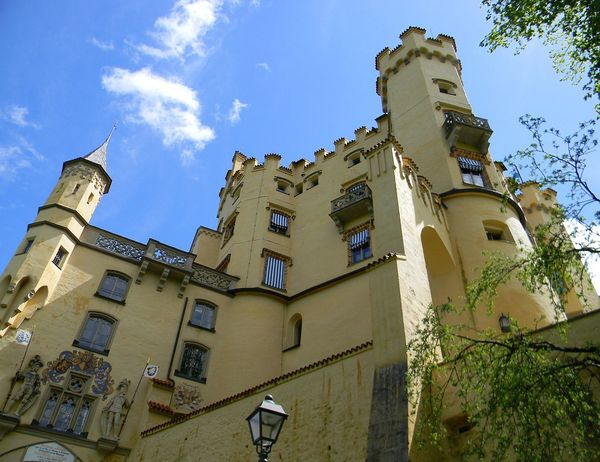 Architecture Building Exterior Built Structure Castle Day History Hohenschwangau Low Angle View No People Outdoors Sky Travel Destinations