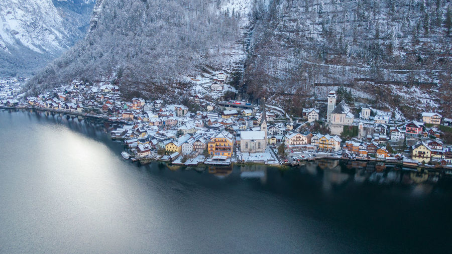 Scenic view of river during winter