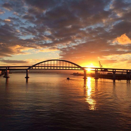 Another morning over the same bridge. Sunrise Enjoying Life Early Morning