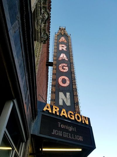 Architecture Arts Culture And Entertainment Travel Destinations Low Angle View Day Illuminated No People City The Week On EyeEm Point Of View EyeEm Selects Personal Perspective Paths Of Life Chicago Time Aged Aragon Ballroom Concert