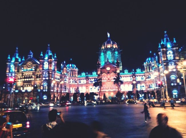 Cst station in night