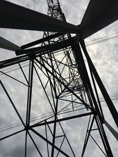 "What Who Where when you feel the need to escape from from life's daily commotion so you take a walk to the power line and look up and think ""yep that's the spot way up there"" Sky Cloud - Sky Low Angle View No People Day Outdoors Electricity Pylon Close-up"