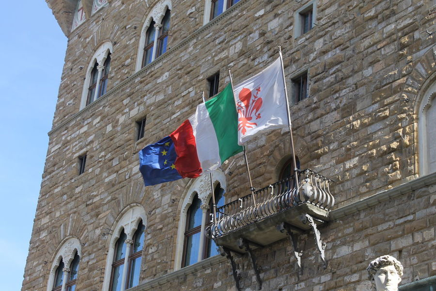 Architecture Culture Exterior Flag Florence Historic Italia Palazzodellasignoria