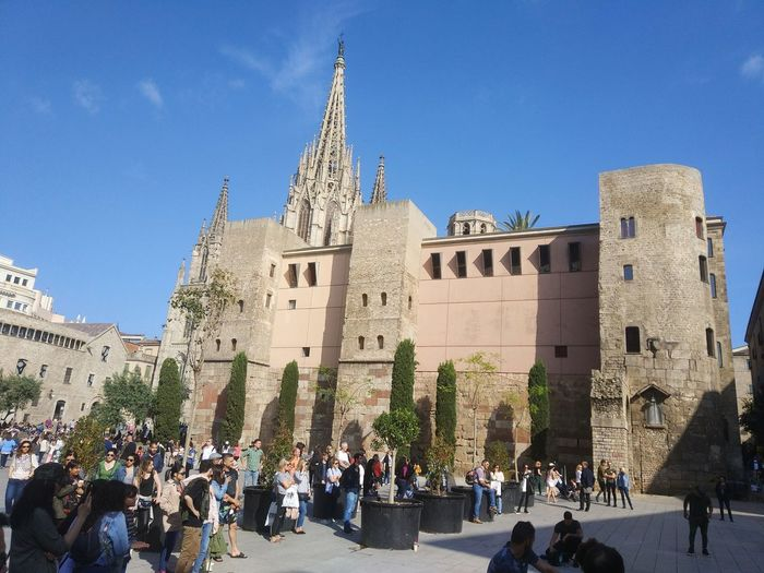 Cathedral Barcelona Catalunya Catalonia Catedral City History Ancient Religion Sky Architecture Building Exterior