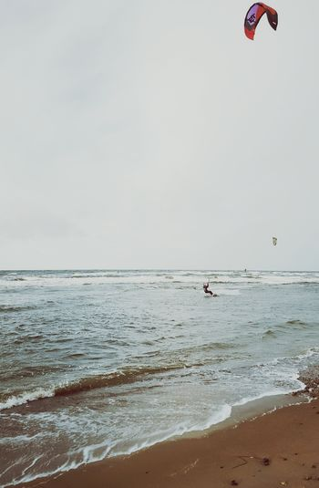 Surf's Up Baltic Sea Showcase: February Waves Crashing Beach Beachphotography Kitesurfing Stormy Weather Sea And Sky Seaside Seascape Surfer Sand & Sea People Watching Pastel Power Monis_Küstenliebe Landscapes With WhiteWall