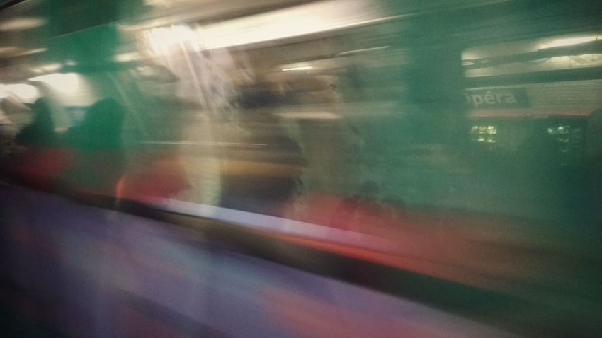 Paris Métro Multi Colored Backgrounds Blurred Motion Abstract No People Painted Image Outdoors City Close-up Day Paris Streetphotography Xiaomiphotography EyeEm City Life Public Transportation