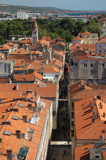 Roofs of Zadar The Art Of Street Photography The Traveler - 2018 EyeEm Awards The Street Photographer - 2018 EyeEm Awards The Architect - 2018 EyeEm Awards Roofs Of Zadar Zadar Taking Photos 3XSPUnity Close-up View From Above Roofs Roofs And Towers Architecture High Angle View Architecture Roof People