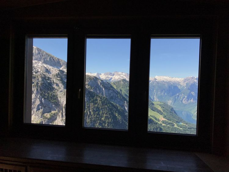 EyeEm Selects Window Mountain Nature Mountain Range Landscape Scenics Beauty In Nature Sky No People Day Travel Destinations Kehlsteinhaus (Eagle's Nest) Kehlsteinhaus