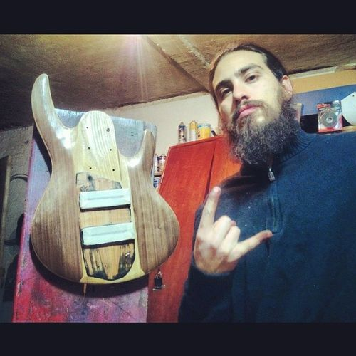 My Ltd B-206 its customized! Next, oil finished. Lista la customizacion de mi Ltd B-206. Ahora el acabado al aceite! AAAAARRGGGGHHHH! Alfredbass Carpentry 6stringbass LTD lethalcreationbassplayer beardbassplayer lethalfan 6string thebeardcollective thebeardclique ltdbass skullbeard