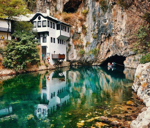 Vrelobune Blagaj Musuem River Mountain Cave Boatride Reflection Mothernature Nature Naturebeauty Bosnia And Herzegovina Iamonmywaytoeverywhere Traveling Mostar