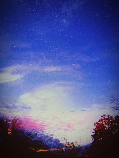 daily picture challenge day 2 Power Line  Beautiful Sky❤ ❤❤❤❤❤❤❤❤❤❤❤❤❤❤❤❤❤ Space Tree Multi Colored Blue Sky Sunset Dramatic Sky Silhouette