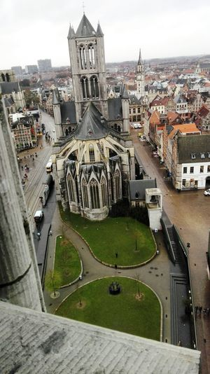 Architecture High Angle View Travel Destinations Cityscape St Bavo's Cathedral