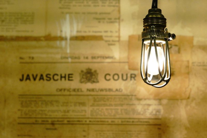 Old newspaper in dutch language Historical Paper Dutch Language Old Newspaper Electricity  Lighting Equipment Illuminated Light Bulb