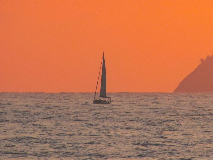 Sailing Water Sea Nature Orange Color No People Sailboat Sunset Sailing Travel Scenics - Nature Travel Destinations Sky Nautical Vessel Beauty In Nature Land Outdoors Desert Transportation Architecture
