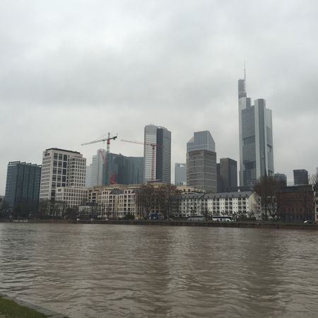 Frankfurt Frankfurt Am Main Skyline Mainhattan Skyscraper Skyscrapers Hochhaus Urban