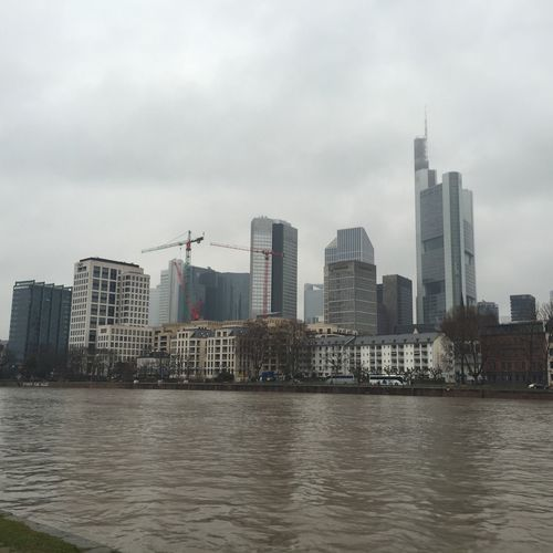 Frankfurt Frankfurt Am Main Skyline Mainhattan Skyscraper Skyscrapers Hochhaus Urban