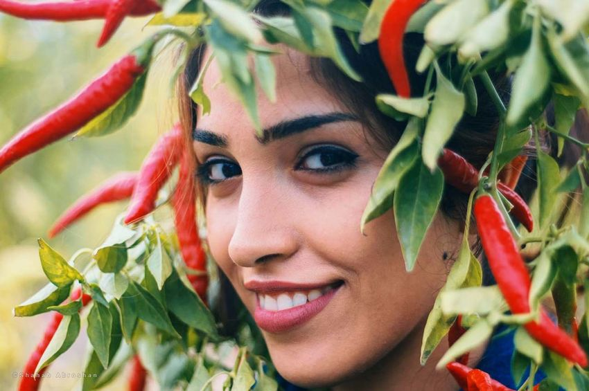 Nastaran & Pepper Beautiful Woman Beauty Close-up Human Face Leaf One Person Outdoors Plant Plant Part Portrait Young Women