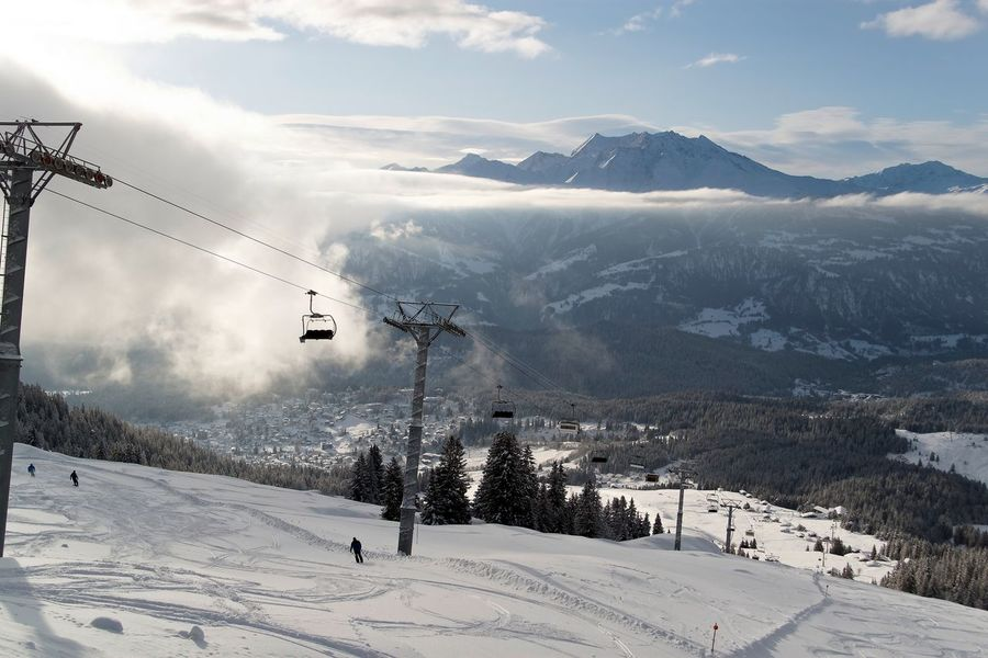 Beauty In Nature Cable Cloud - Sky Cold Temperature Day Landscape Mountain Mountain Range Nature No People Outdoors Overhead Cable Car Scenics Ski Holiday Ski Lift Sky Snow Snowcapped Mountain Tranquil Scene Tranquility Travel Destinations Winter