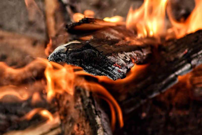 Love that it created a 3D effect on the wood and fire! :) 3D Effect Burning Burning Burnt Close-up Destruction Detail Directly Above EyeEm EyeEm Best Shots EyeEm Gallery EyeEmBestPics Eyemphotography Fire No People Selective Focus Showcase: February Wood