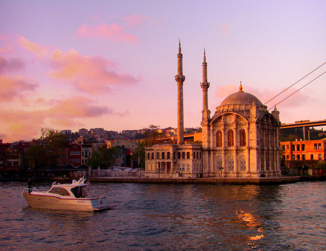Travel Destinations ArchitectureDome Tourism History Built Structure Arrival Travel Water Sunset Sky Outdoors No People City Day Politics And Government EyeEm Best Edits EyeEm Best Shots EyeEm Gallery Ortaköy Mosque Ortaköy - Bosphorus Istanbul Turkey