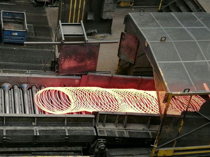 Hot Steel Spring Indoors  Flame 1500 Degrees EyeEmBestPics EyeEm Best Shots Shotoftheday Steel Foundry Built Structure Day
