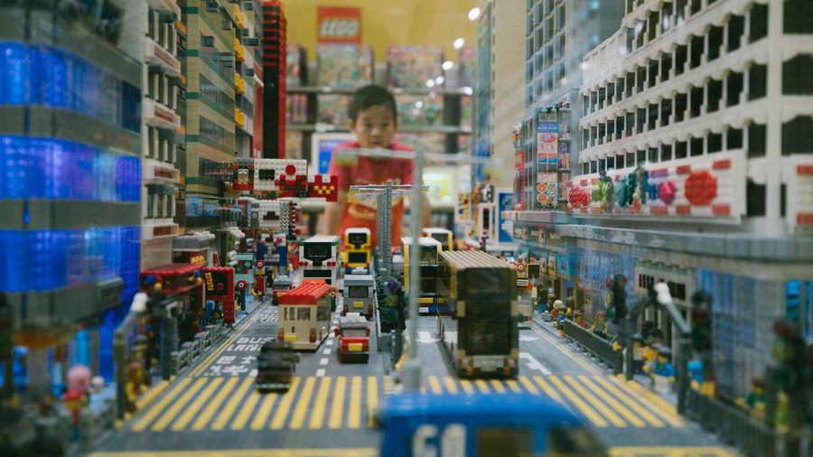 LEGO Legophotography Industry Working Motion Selective Focus Occupation Indoors  One Person Architecture Technology Business Equipment Factory Standing Men Machinery Illuminated City Adult Retail  Busy Production Line