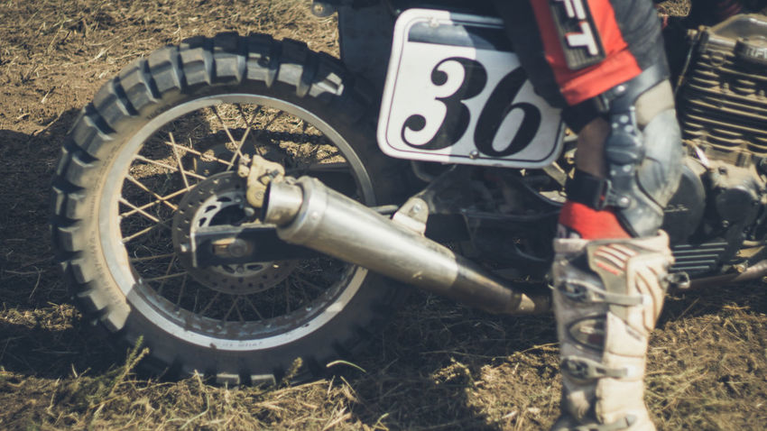 Close-up Day Dusty Track Grass Moto Motor Motorcycle Motorcycles Nasmgraphia No People Outdoors Tire