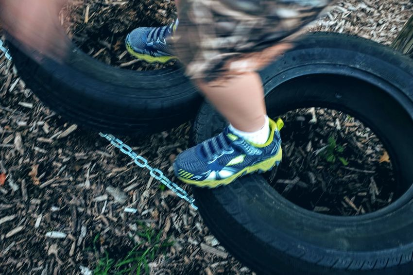 Photo essay, a day in the life August 21, 2016 Fairbury, Nebraska 35mm Camera A Day In The Life Balance Balancing Act Camera Work Childhood Color Photography Eyeemphoto Foot Photography Fujifilm_xseries Ground High Angle View Life In Motion Low Section Motion Blur Obstacle Course Outdoors Photo Essay Playground Playing Shoot Your Life Small Town America