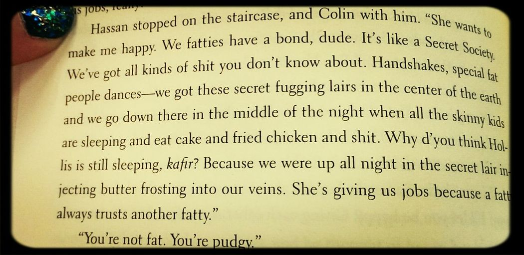 Describes my life in a paragraph. Fatty Anabundanceofkatherines Johngreen Excerpt