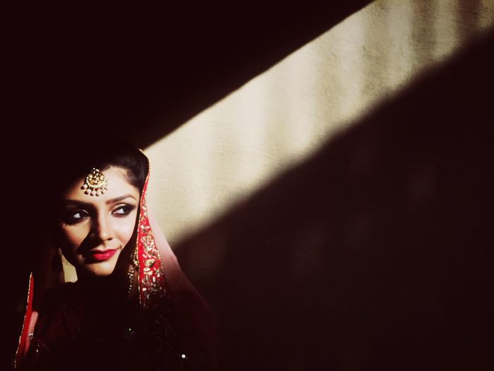 Follow the bride Wedding Photography Indian Wedding Bride Portrait Portrait Of A Woman Bridal Photoshoot Light And Shadow Light Up Your Life Sunlight And Shadow Beams Of Light Beam Me Up