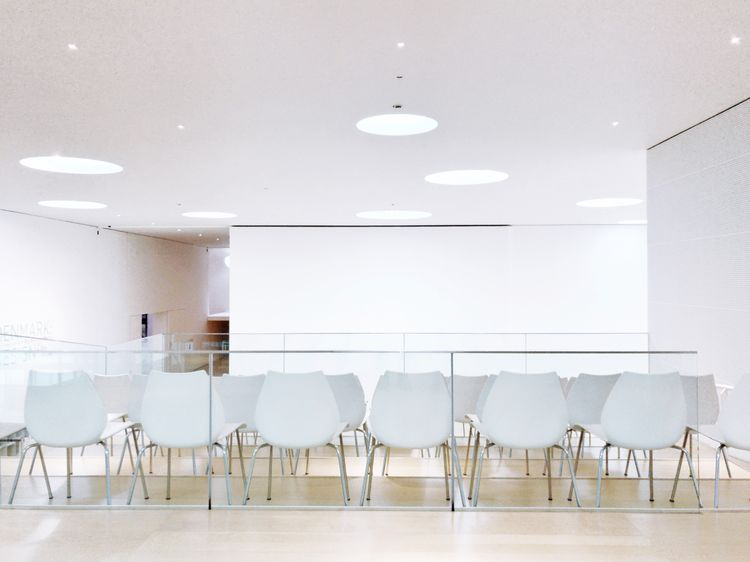 Chair Empty Indoors  Table Absence Ceiling No People Modern Architecture Office Chair Illuminated Seat Home Showcase Interior Space Day Chairs Chair Eye4photography  Museum Museum Of Modern Art White White Color