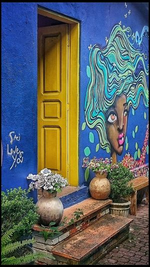 A blue wall and a yellow door. Blue Wall Yellow Yellow Door Blue Wall Door Hanging Out Taking Photos Check This Out Open Door Coloured House Artphotography Streetphotography Street Photography Streetphoto_color Sony Street Art Art Photography EyeEm Eyeemphotography Photography Photos Eye4photography  EyeEm Team EyeEm Gallery