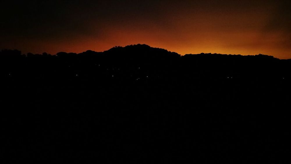 Silhouette Mountain Landscape Sunset No People Night Scenics Outdoors Nature Sky Beauty In Nature Astronomy