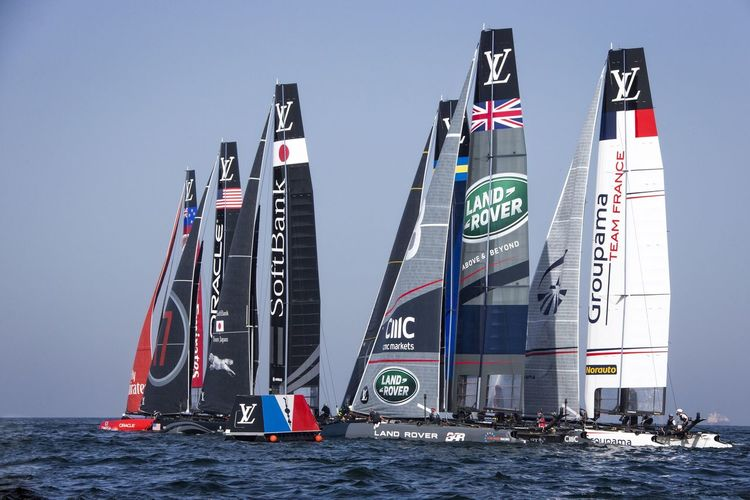 America's Cup World Series Muscat , Oman The Fleet Yacht Race Louis Vuitton Sailing Visit Oman Sports Photography