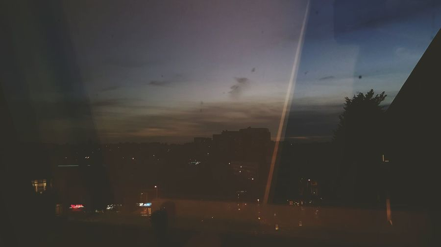 Nightphotography Illuminated Urban Skyline Cityscape 🌆city🌃 Light And Darkness  Check This Out Silhouette Sunset