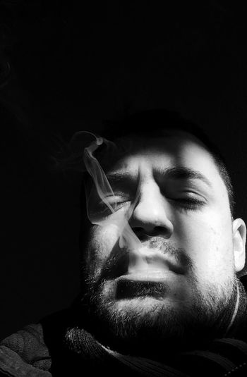 Darkness And Light Smooking IPhoneography From My Point Of View Self Portrait Portrait Blackandwhite Monochrome