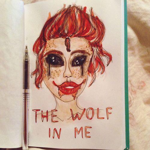 Art скетчбук красный Клоуны не так уж и милы. Внутри них человеческая жизнь и волчья смерть. Одинокая и от части жалкая